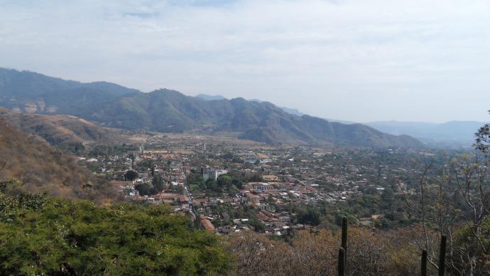 Vue sur le village de Malinalco